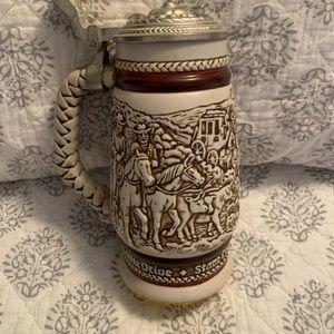 Vintage AVON  Cattledrive Beer Stein